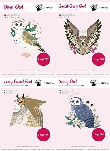 Four Owl Set from Callupish (Reimena) 15/50