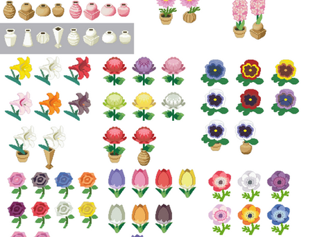 Animal Crossing Inspired Flowers from Luddeagle