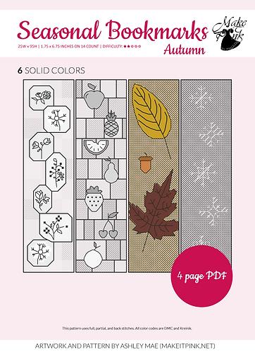 Seasonal Bookmark SAL - Autumn