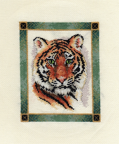 Tigers with Jade Green Frame - Half of Profits go to Tigers of America