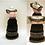 Thumbnail: Watermelon Black, Pink, and Green Long Skirt Miniature Bead Dress