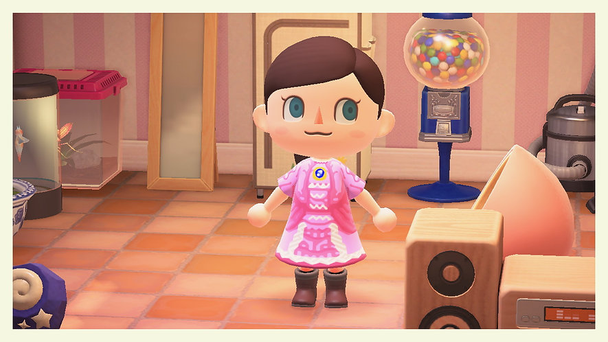 Princess Peach and Daisy Dresses for Animal Crossing QR Codes