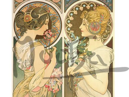 Alphonse Mucha's 1899 Primrose and Feather Update