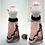 Thumbnail: Sweet Pink, White, and Black Split-Skirt Miniature Bead Dress