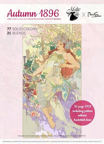 Alphonse Mucha's 1896 Seasons, Autumn