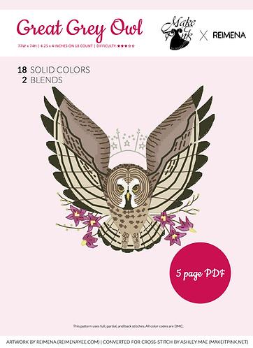 Great Grey Owl from Callupish (Reimena) 3/50