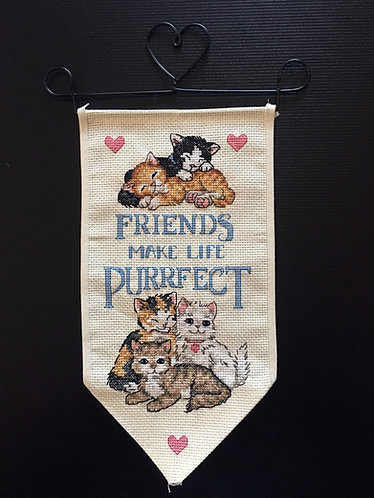 Friends Make Life Purrfect Hanger