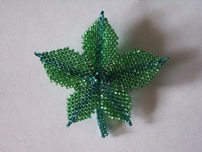 Sparkling Leaf Pin / Brooch