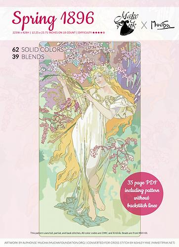 Alphonse Mucha's 1896 Seasons, Spring