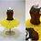 Thumbnail: Sunflower Brown and Yellow Ballerina Miniature Bead Dress