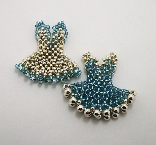 Pendant Dress - Main Blue with Silver