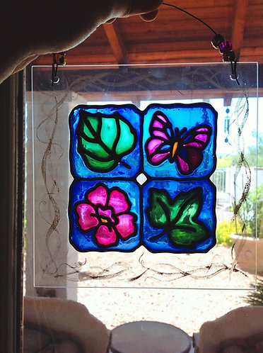 Faux Stained Glass: Nature Squared