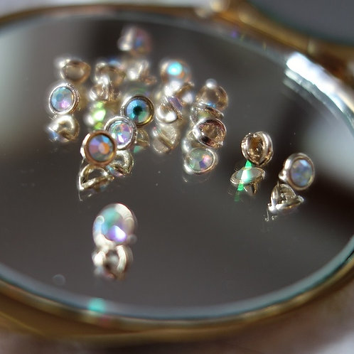 For Rapunzel - One Baggie of Gold AB Crystal 3mm Crystaletts (One per customer)