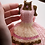 Thumbnail: White and Gold Houndstooth Miniature Bead Dress with Crystalett Buttons & Shoes