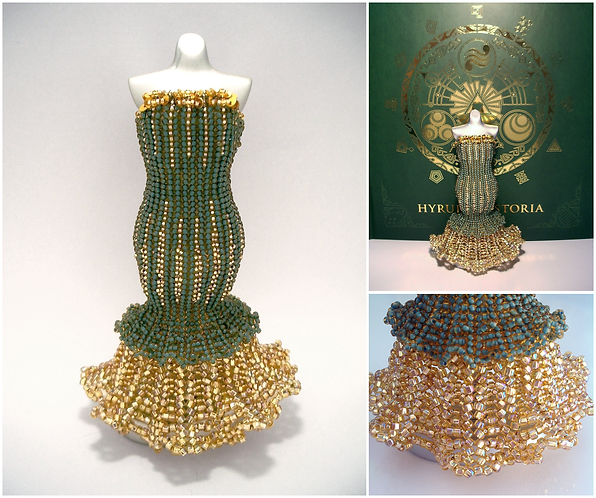 Zelda Green and Gold Mermaid Miniature Bead Dress