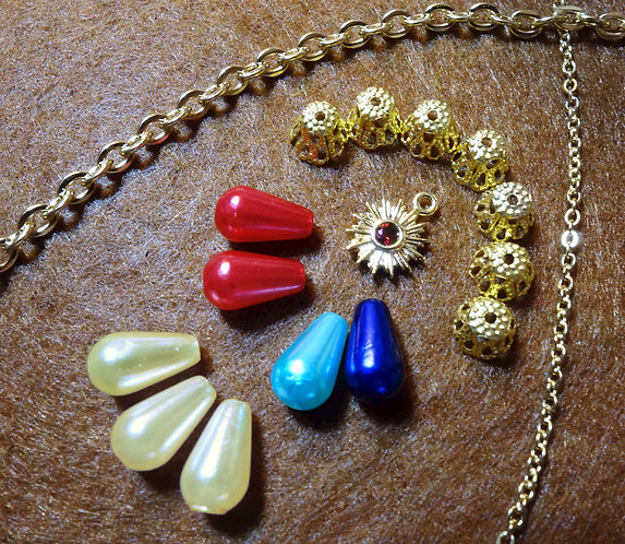 For Mucha's Feather - One Baggie of IMPERFECT Beads and Chain (One per customer)