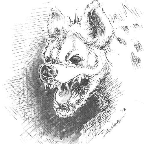 Hyena glossy print
