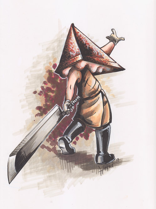 Red Pyramid glossy print