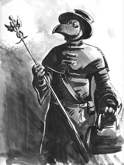 Plague Doctor glossy print