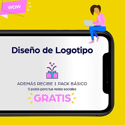 Diseño de Logotipo + GRATIS Pack Básico de 5 Posts para tus redes sociales