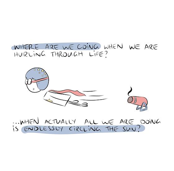 Hurling Through Life Greeting Card