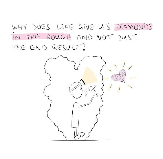 Life Gives us Diamonds Greeting Card