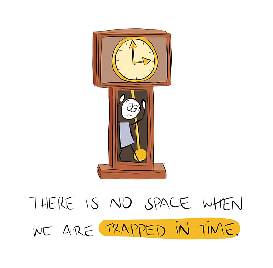 Trapped in Time Greeting Card