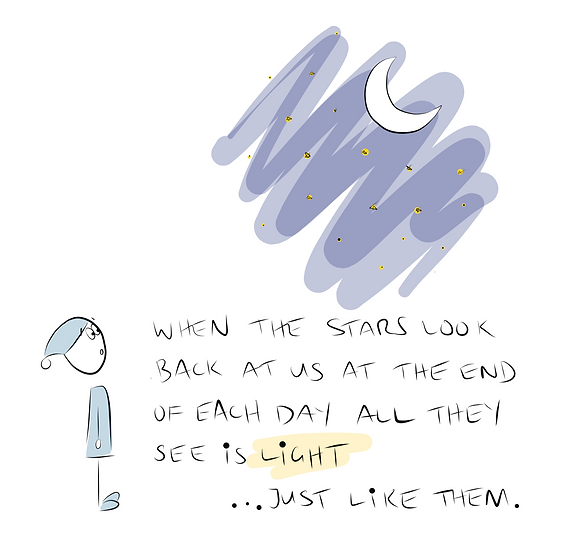 The Stars Look Back Greeting Card