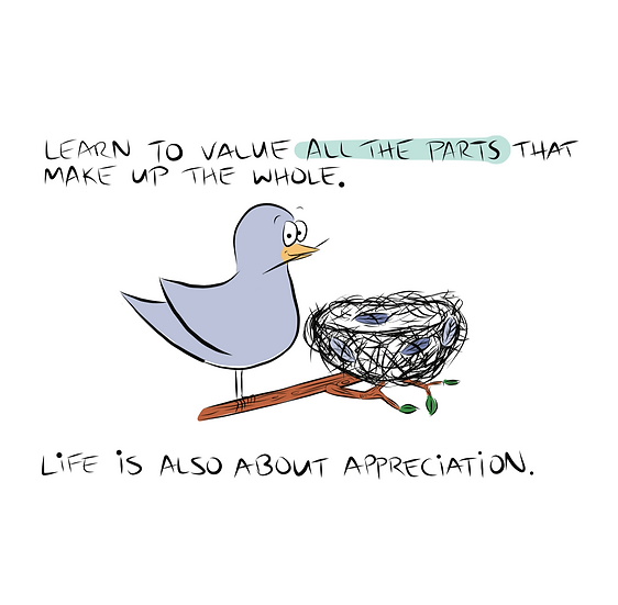Life is about Appreciation Greeting Card