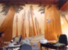 """Redwoods"" mural earth pigments and lime-wash. non toxic, eco friendly by www.minouche-gr.aglia.com"