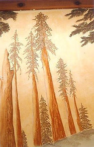 """Redwoods"" wall decor earth pigments and lime-wash. non toxic, eco friendly by www.minouche-gr.aglia.com"