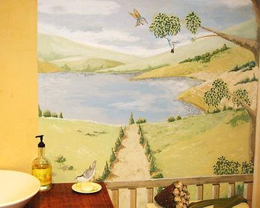 """"""" lake view"""" mural- Bathroom wall decor..www.minouche-graglia.com"""