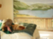 """Bon tempe lake"" mural- Bedroom wall decor..www.minouche-graglia.com"