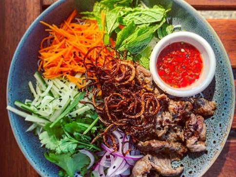 Vietnamese Beef Noodle Salad. We're open