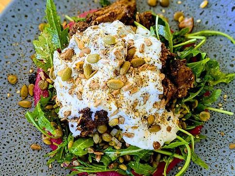NEW MENU ITEM!🍖🍾_Pulled Lamb Salad wit