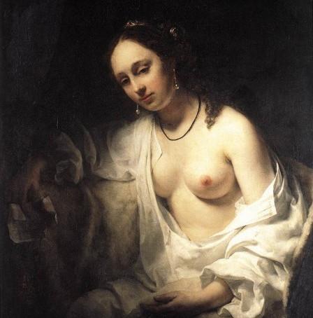 렘브란트와 제자 이야기 - 윌렘 드로스트의 «다윗의 편지를 받은 밧세바» (2)