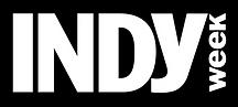 IndyWeek flag white with black backgroun