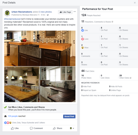 44 Post Clicks Isn't it time to redecorate your kitchen and with trending materials 124 post reach 5 likes.PNG