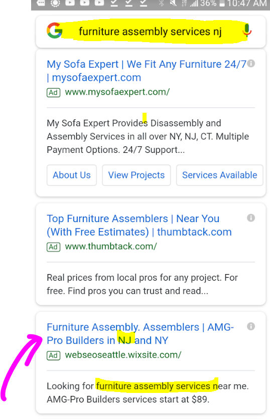 Furniture Assembly services NJ Feb 2019