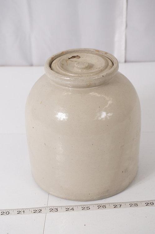 Salt Glaze Butter Crock with Lid