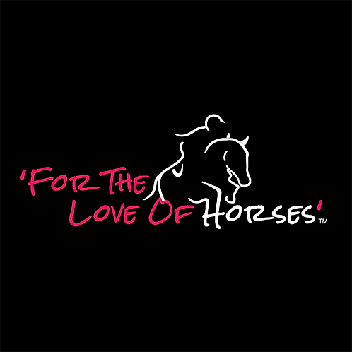 For The Love of Horses Hoodie GREY