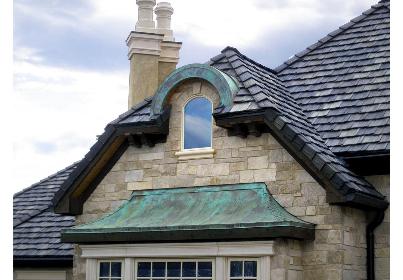 Petina Copper Bay Window and radius