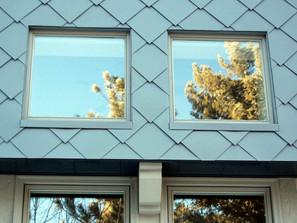 Siding_Brake Metal closeup window diamond