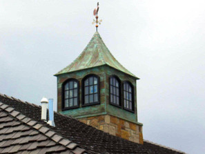 Petina Copper Cupola with windows