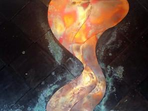 Art Copper Petina River