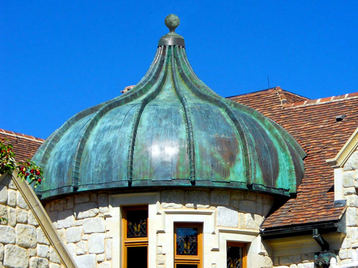 Petina Copper Round Turret closeu