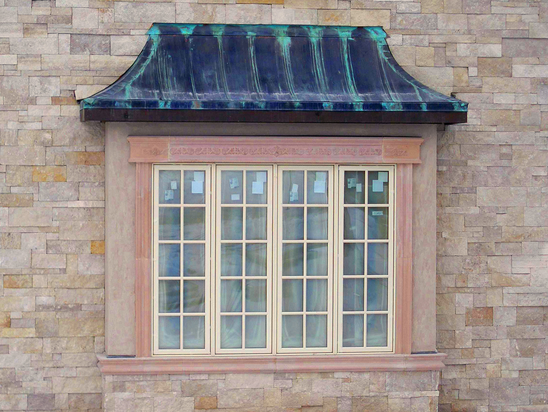 Petina Copper bay window