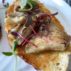 Super Simple Breakfast - Oyster Mushrooms on toast with Micro Sunflower + Micro Beet