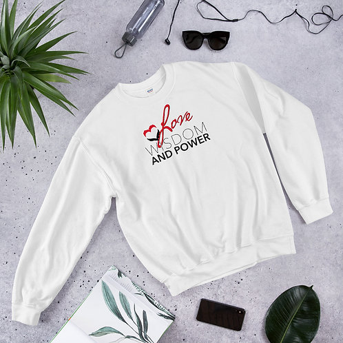 LOVE, WISDOM AND POWER - Unisex Sweatshirt