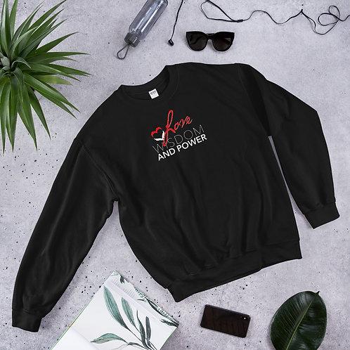 LOVE, WISDOM AND POWER - Unisex Sweatshirt